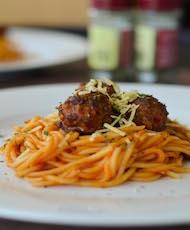 Fusion Italian Spaghetti with Chinese Style Meatball
