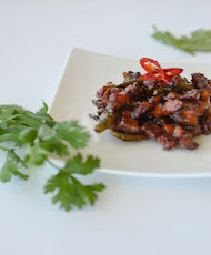 Caramelised Pork Belly with Green Chilli