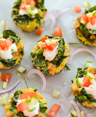 Mini Spinach and Ham Quiche
