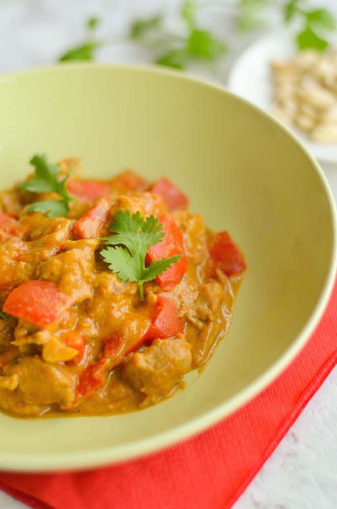 Creamy Chicken Satay with Red Pepper - Chindian Kitchen