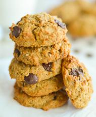 Quinoa Oatmeal Chocolate Breakfast Cookies