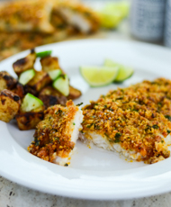 Spicy Parmesan Crusted Baked Fish
