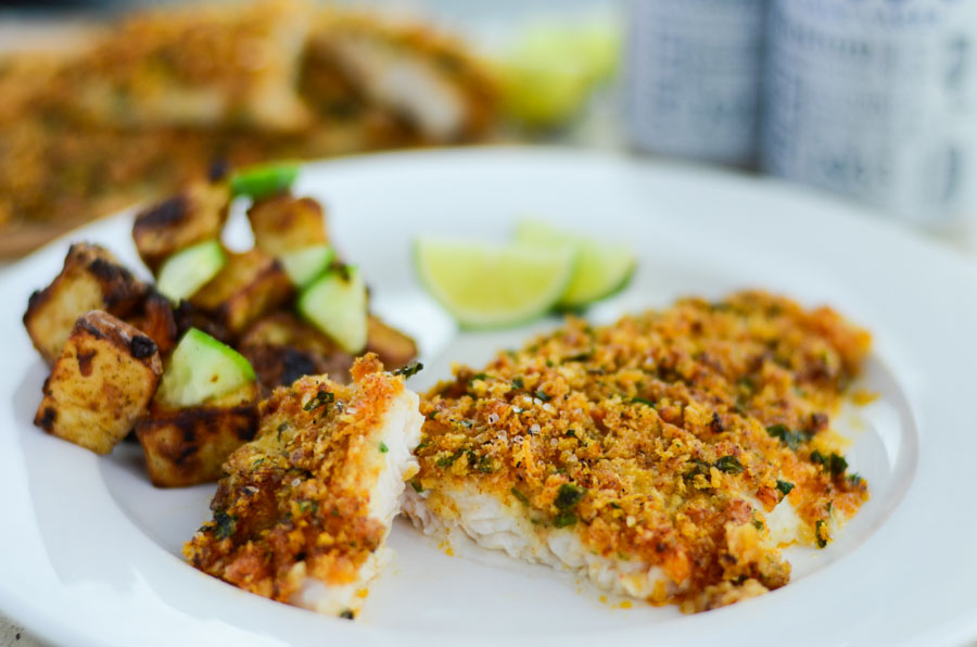Spicy baked fish recipe for Parmesan crusted fish