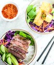 Vietnamese Rice Noodle Salad Bowl