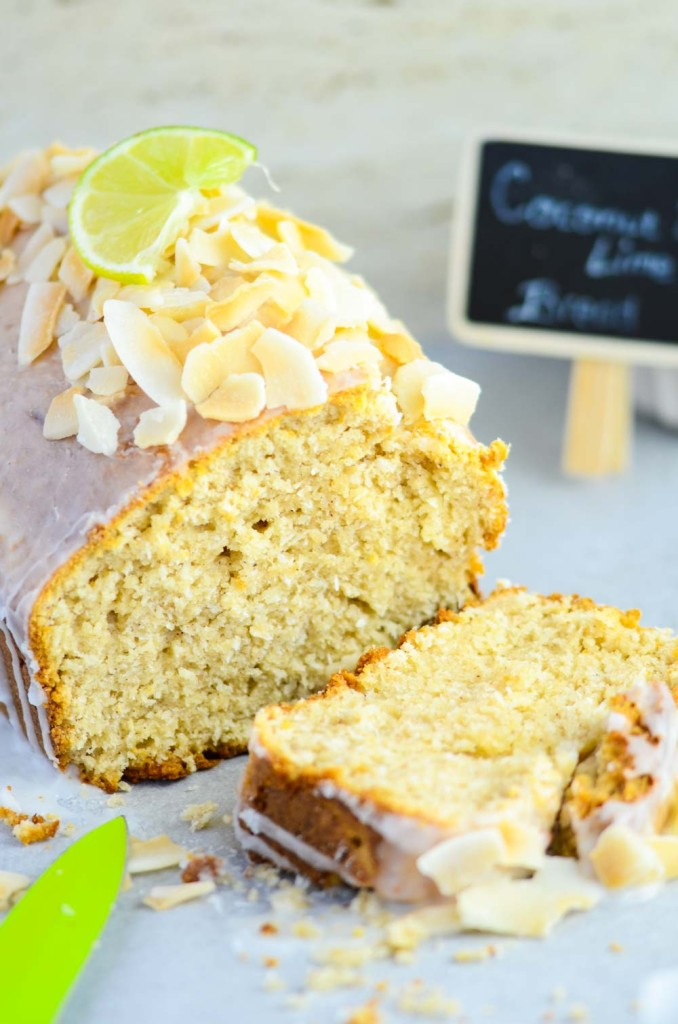 Coconut Bread With Lime Glaze