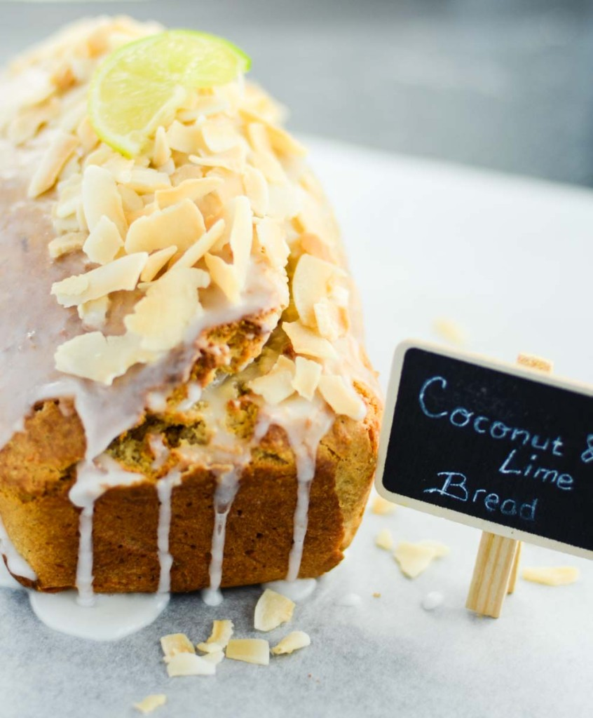 Coconut Bread With Lime Glaze Whole