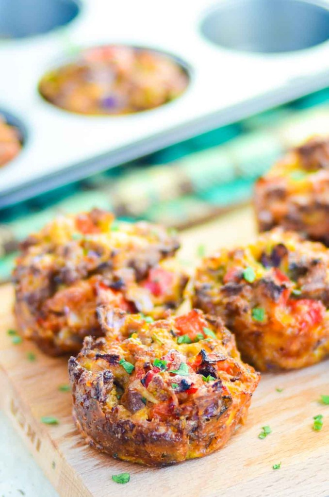 Breakfast Muffin Cups With Sausages