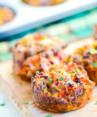 Spiced Breakfast Muffin Cups with Sausage and Veggies