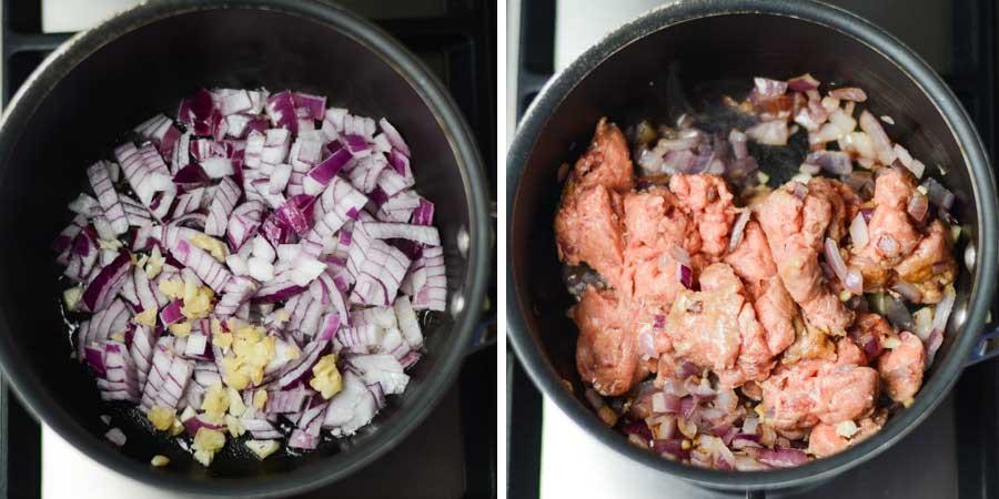 fry-onion-and-sausage