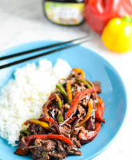 Beef and Black Bean Stir Fry with Capsicum