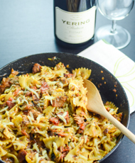 Spicy Bacon and Tuna Pasta