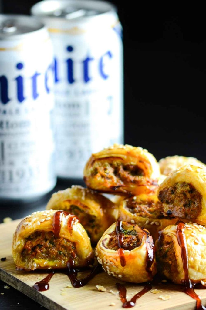 Mini Carrot and Sausage Rolls