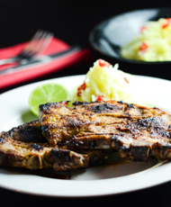 Thai Style Lamb Chops with Green Papaya Salad Featured