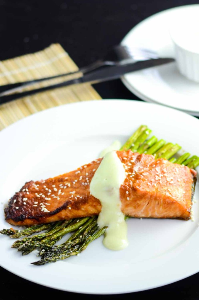 Miso Glazed Salmon with Asparagus